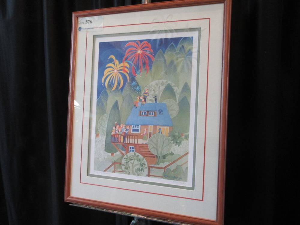 4th Of July Starr Hill Print 317950 26 X 21 Frame By Rie